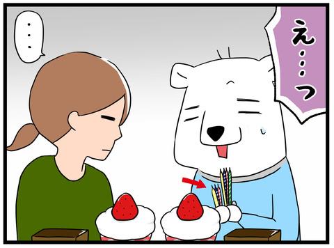 ケーキのロウソク3