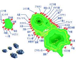 八丈島ポイントマップ