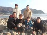 宇佐美海岸にて 2