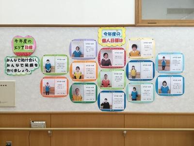 椿野苑○○エリアスタッフ目標