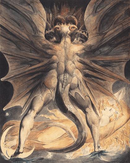 悪魔の絵画ブレイクの悪魔