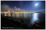 マジックアイランドからワイキキビーチ(満月)Liberty555