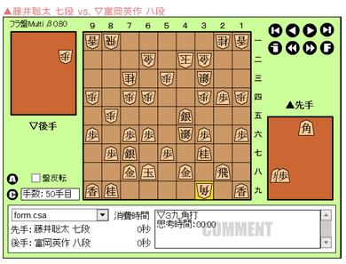 c1藤井50手目39角打ち