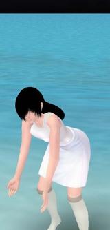 水遊び貞子たん
