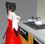 黒猫神さま、料理