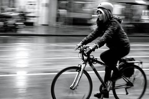 自転車 雨