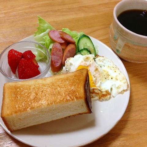 朝ごはん トースト