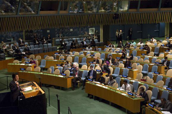 【堺からのアピール】  安倍首相「難民受け入れは?」と問われ「女性の活躍、高齢者の活躍が先」  ガラガラの国連演説後コメントトラックバック