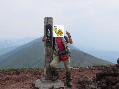 カメ登山者