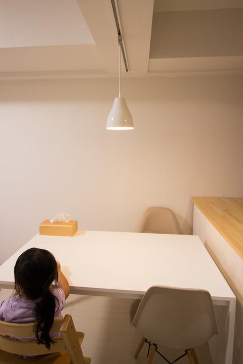 ダイニングテーブル上のペンダントライト高さ長さ