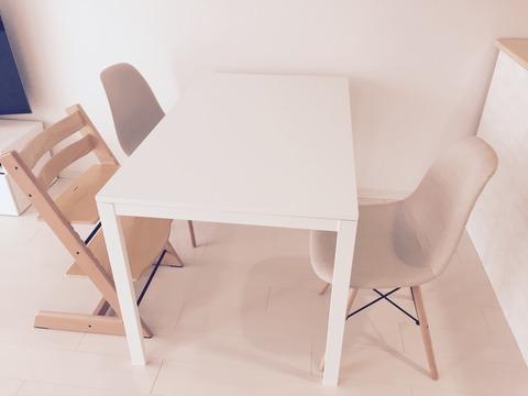 ダイニングテーブルとイスIKEA、DSW