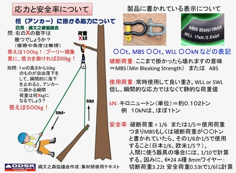 危険木処理WS用テキスト