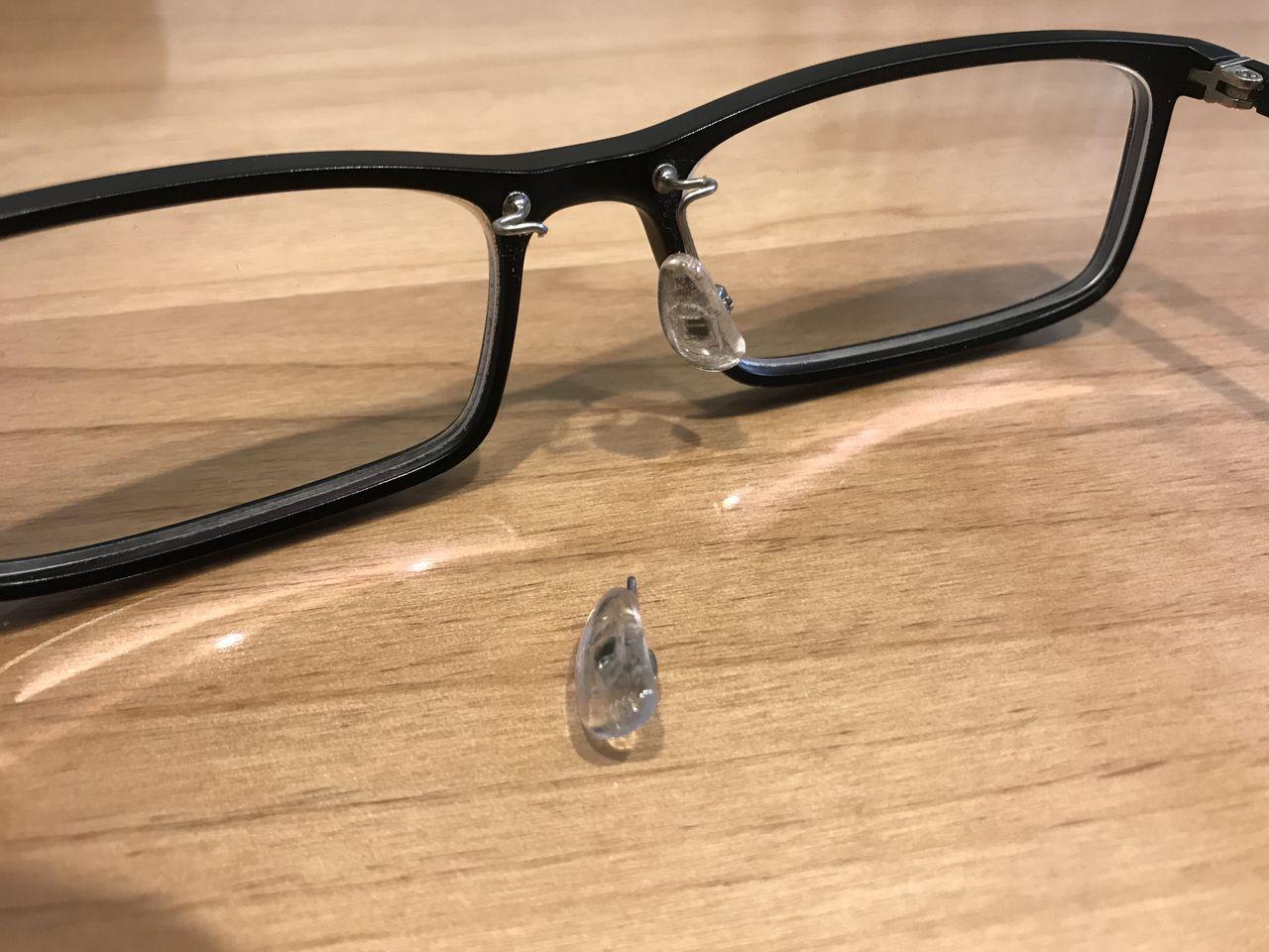 折れ あて 眼鏡 た 鼻