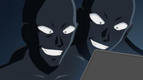 名探偵コナンのまだ犯人わからないときの黒い人間みたいなの