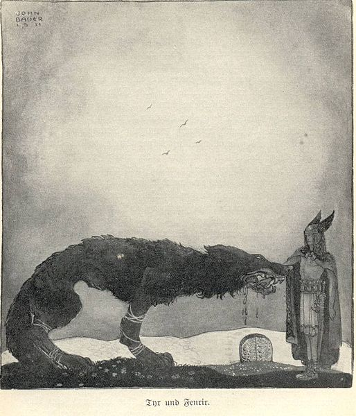 514px-Tyr_and_Fenrir-John_Bauer
