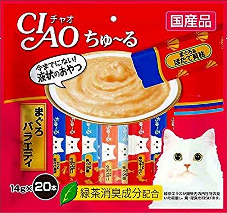チャオ (CIAO) 猫用おやつ ちゅ~る まぐろバラエティ 14g 20本入り × 16個セット