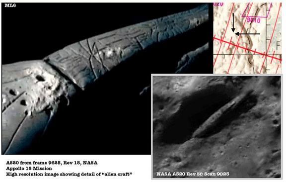 月面上に眠る10億年前の巨大宇宙船