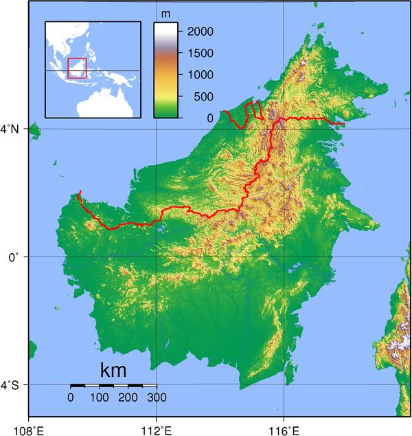 Borneo_Topography