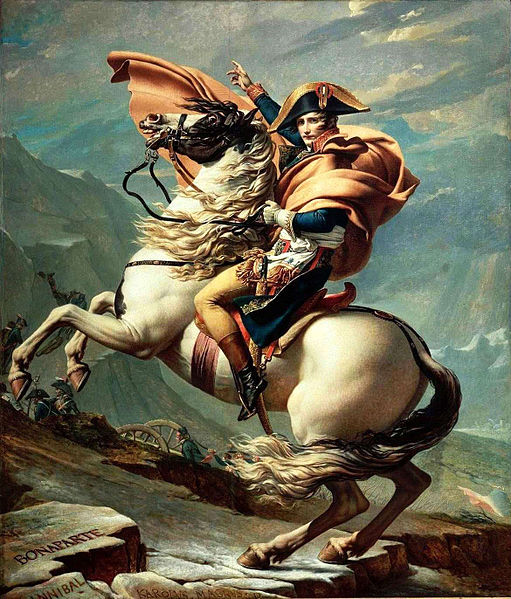 511px-David_-_Napoleon_crossing_the_Alps_-_Malmaison1