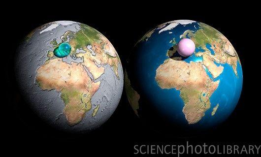 地球上の水と空気を1カ所に集めるとこうなる