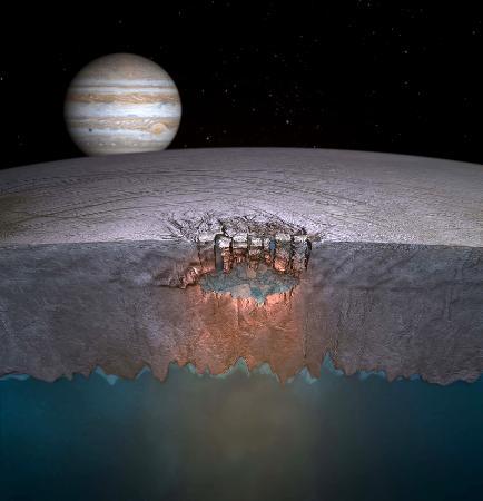 木星の衛星に巨大な湖か 生命の可能性高まる
