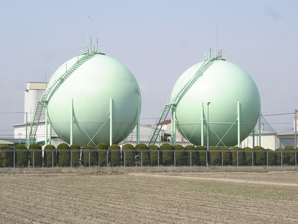 ガス会社のタンク