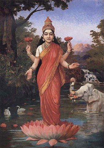 339px-Ravi_Varma-Lakshmi