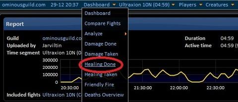 Healing Done Menu