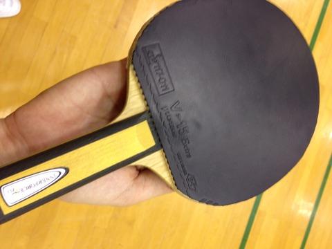 【過去記事】VICTASで丹羽選手が使っている話題の『V15エキストラ』をフォア面で使ってみました♪強い選手が使うと鬼に金棒です。硬めのスピン系使いの中でも珍しい位置
