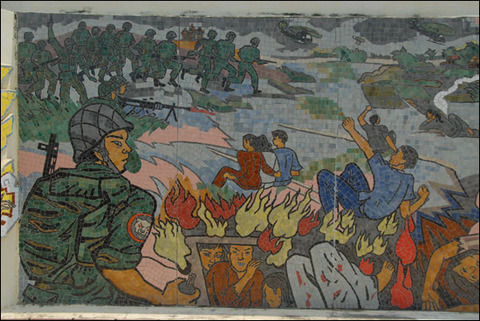 韓国人の蛮行ゴダイの壁画