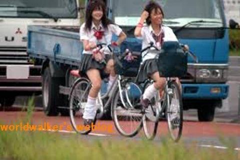 女子高生(自転車)01大