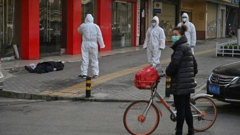 中国の街角で死人01