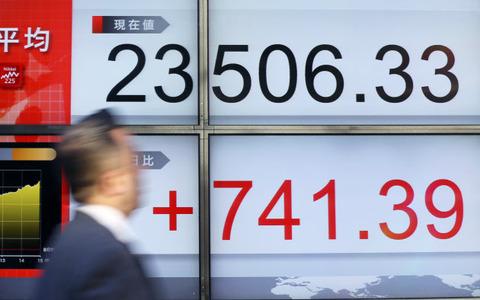 東証急反発で26年ぶり高値