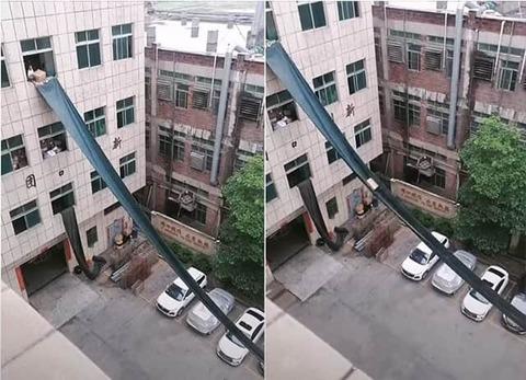 ビルの4階から直接トラックに荷物を積み込む方法