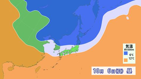 10月6日の暖気・寒気
