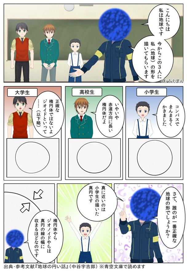 【1ページ漫画】地球円い