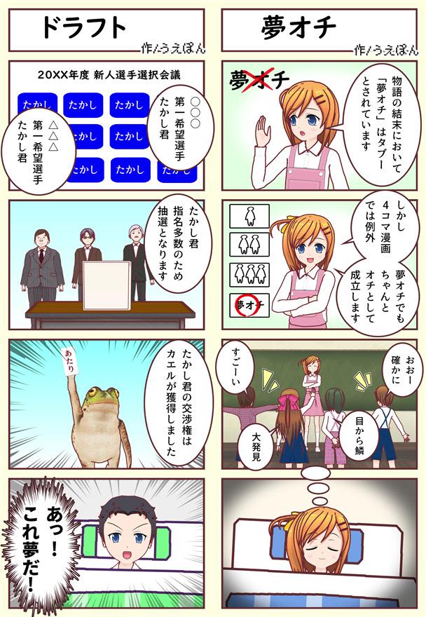 【4コマ漫画】夢オチ