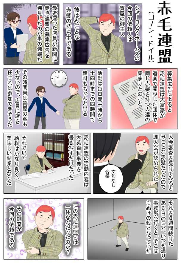 【コミPo】【1ページ漫画】赤毛連盟