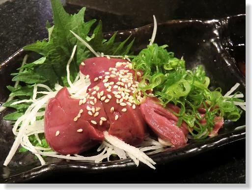 お魚と肉 こだわり居酒屋 だい∥*とり肝刺身*580法規制はないにもかかわらず食べられるお店が減りつつある昨今、置いてあるのは嬉しい限り。∥ (7)
