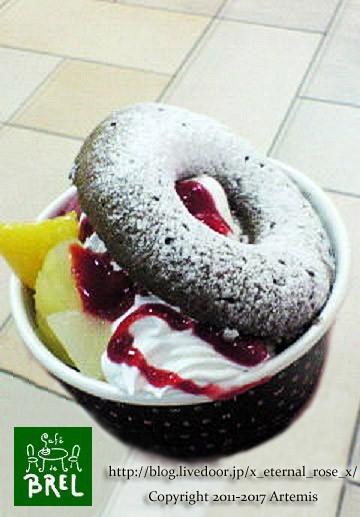 cafe de BRELでドーナツミニパフェ 9