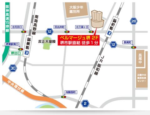 堺市駅前map