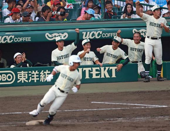 【スポーツ】(熱闘甲子園)報徳学園・小園が魅せた!これは凄い!トリプル二塁打と驚足の全3得点、福本絶賛、イチ級の評価