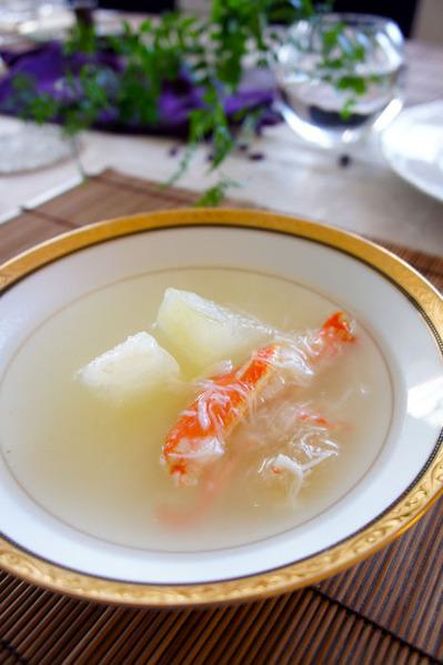 冬瓜と蟹とフカヒレの白雪スープ