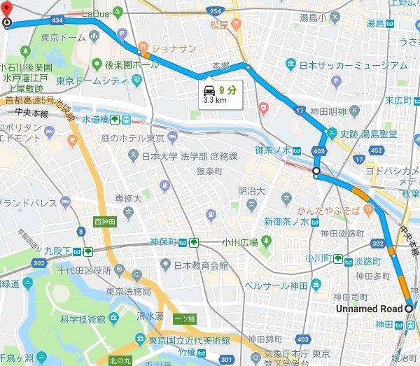 神田駅北向きから本郷通り、後楽園などは? : 東京23区武三タクシー ...