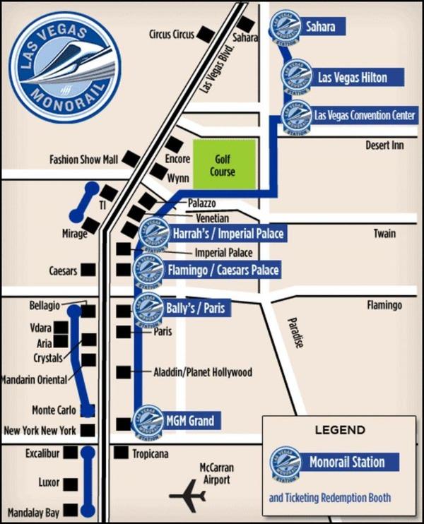 ラスベガスモノレールの地図