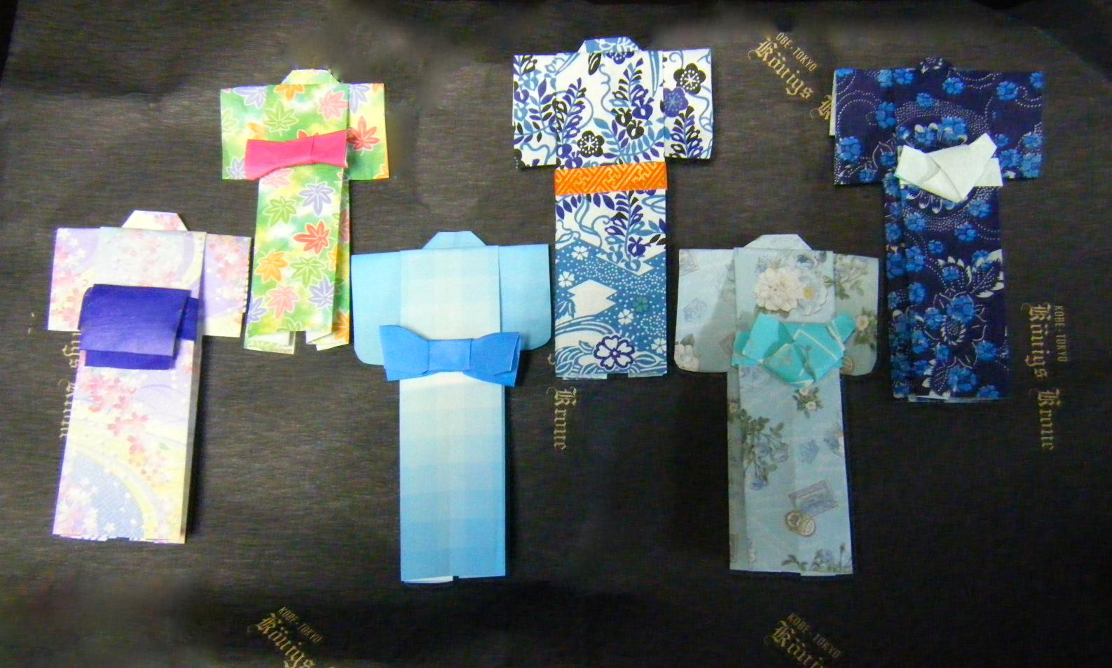いろいろな帯をつけたり、和紙 ... : 七夕の飾り 折り紙 : 七夕