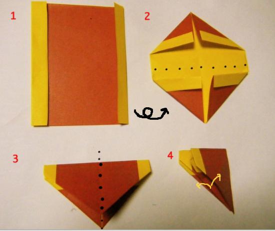 折り紙の 折り紙バラ折り方簡単平面 : divulgando.net