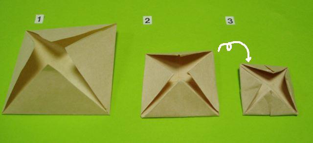 すべての折り紙 折り紙 くす玉 花 : 永遠の破片:《折り紙・バラと ...