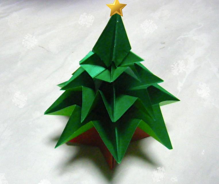 すべての折り紙 折り紙でサンタクロースの作り方 : 動画折り紙でXmas tree》