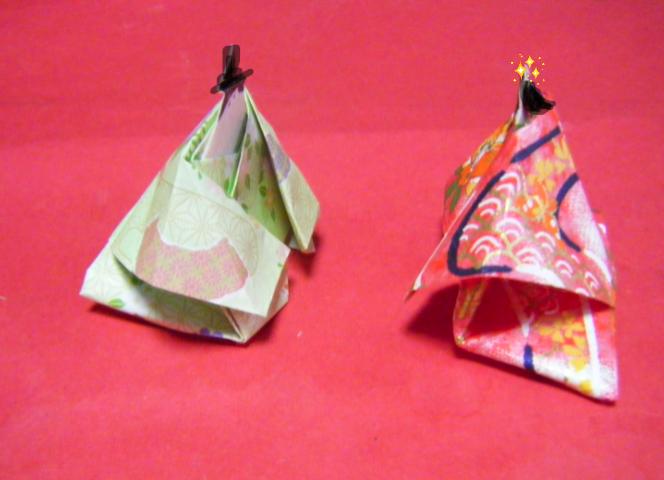 すべての折り紙 4月の折り紙 : 後ろの裾が長くなっていて ...